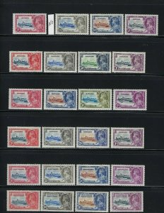 COMPLETE 1935 GEORGE V SILVER JUBILEE- MINT MOSTLY HINGED.