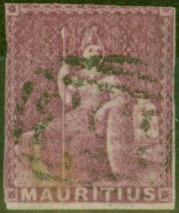 Mauritius 1858 (9d) Dull Magenta SG29 Good Used