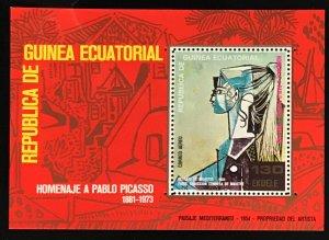 Equatorial Guinea #MiBl115 MNH S/S CV€7.00 Picasso