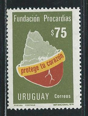 Uruguay 987 1977 30th ICAO single MNH