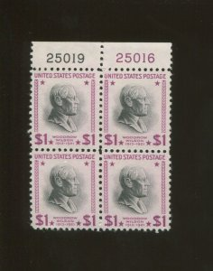 United States Postage Stamp #832g MNH Plate No. 25019 25016 Block of 4