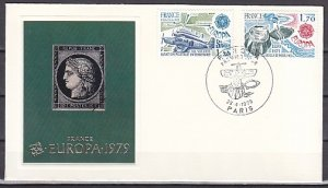 France, Scott cat. 1646-1647. Europa-Postal History issue. First day cover. ^