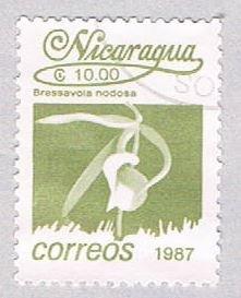 Nicaragua Flower olive 10 - pickastamp (AP109027)
