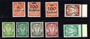 GERMANY STAMP DANZIG STAMPS COLLECTION LOT  #4