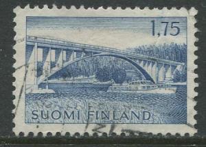Finland - Scott 413 - Parainen Bridge -1963- Used - Single 1.75m Stamp