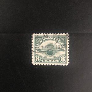 Scott #C4 1923 Airmail 8c Dark Green  Used XF Emblem of Air Service