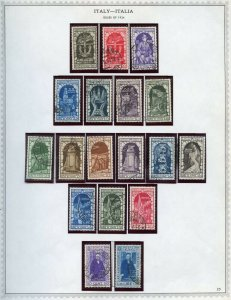 Italy Scott 315-21, C56-61, CE5-CE7 & 322-23 Complete USED in Mounts GORGEOUS