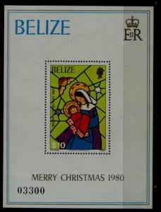 Belize 534 MNH s/s Christmas-80 SCV24