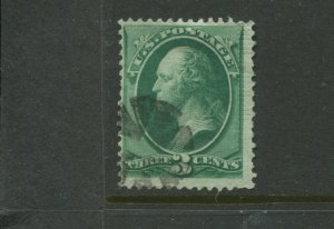 Scott 136 Var. Washington END ROLLER Grill Used Stamp    (Stock 136-A1)