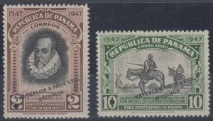 PANAMA 1948 CERVANTES Sc 364 & C106 TOP VALUE FULL SET PERF PROOFS + SPECIMEN