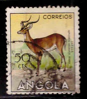 Angola  Scott 367 Used stamp from 1953 animal set