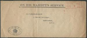 GB 1922 OHMS cover Dept of Trade Officiial Paid meter......................39992