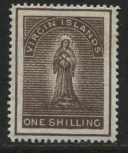 British Virgin Islands 1889 1/ brown mint o.g. (JD)