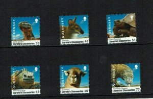 Guernsey: 2009  Darwin's Discoveries, Animals, Birth bicentenary,  MNH set