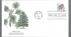 United States, 2491, Pine Cone Fleetwood First Day Cover FDC, Used