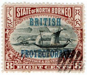 (I.B) British North Borneo Postal : 8c (Protectorate)