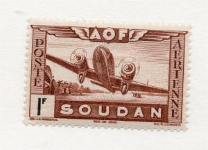 French Sudan 1940s Air Mail Early Issue Fine Mint Hinged 1F. 229536
