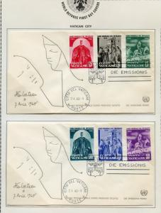 VATICAN CITY  SET  1960 REFUGEE YEAR JEAN COCTEAU CACHETED FIRST DAY COVERS