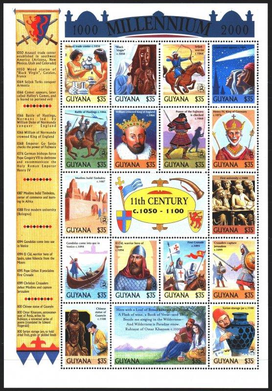 Guyana. 1999. Small sheet 6695Ñ-6711Ñ. Millennium, Henry 4, El Cid, Crusade...