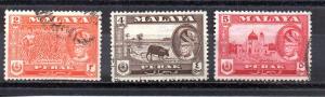 Malaya - Perak 128-130 used