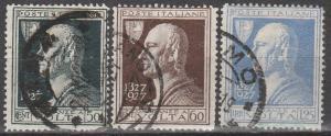 Italy #189-91  F-VF Used  CV $12.50  (S7300)