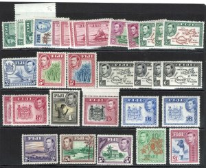 Fiji 1938 ½d - £1 incl all shades and perfs fine mint sg249-66b cat £398+