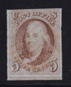 1 VF 3 big margins used neat Red grid cancel with nice color ! see pic !