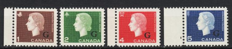Canada-1963 QEII Official stamps Sc# 046/049-MNH (4118)