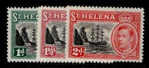 ST. HELENA GVI SG149-151, complete set, NH MINT.
