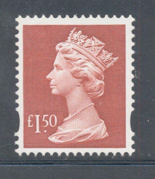 Great Britain Sc MH280 1999 £1.50 red QE II Machin Head stamp mint NH