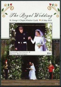 Grenadines Grenada Royalty Stamps 2021 MNH Prince Harry & Meghan Wedding 1v S/S
