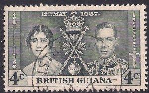 British Guiana 1937 KGV1 4ct Grey Black Coronation SG 306 ( C307 )