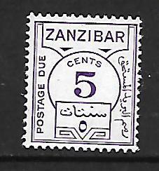 ZANZIBAR  J18 MNH POSTAGE DUE 1936