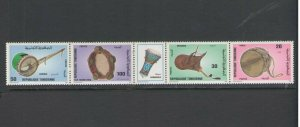 TUNISIA :Sc. 1119A / **MUSICAL INSTRUMENTS**/ Strip of 4 with Label   / MNH