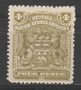 RHODESIA 1898 ARMS 4D