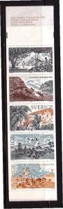 Sweden Sc 1566a 1985 Nobel Prize stamp booklet pane mint NH in booklet