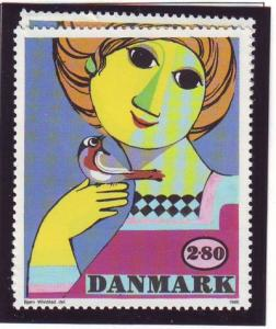 Denmark Sc 789 1986 Wiinblad Painting stamp mint NH