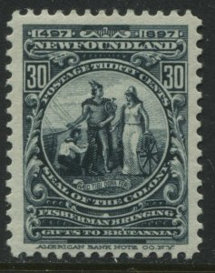 Newfoundland 1897 30 cents mint o.g. and VF
