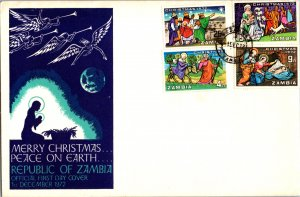 Zambia, Worldwide First Day Cover, Christmas