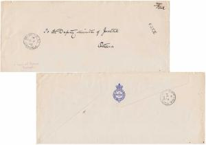Canada Official Free Mail 1896 Montreal, Canada with sl hs Free.  Reverse Ill...