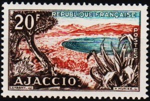 France. 1954 20f S.G.1211 Mounted Mint