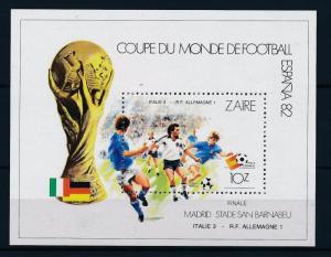 [59442] Congo Zaire 1982 World Cup Soccer Football Spain MNH Sheet