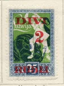 Latvia 1921-22 Early Issue Fine Mint Hinged 2r. Surcharged NW-07482