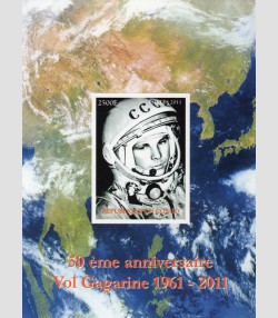 Space Yuri Gagarin 1961-2011 s/s Imperforated Mint (NH)