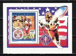 Guinea, Scott cat. 1211. American Football value as a s/sheet. ^