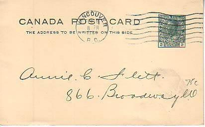 Canada, Government Postal Card, Canada British Columbia