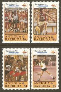 Antigua #1329-32 NH 92 Summer Olympics