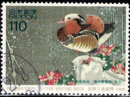 Japanese Animal Mandarin Duck Greeting Card