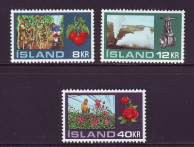 Iceland Sc 443-5 1972 Hothouse Gardening stamps NH