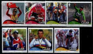 HERRICKSTAMP ISLE OF MAN Sc.# 1506-12 Mark Cavendish (Cycling) Stamps